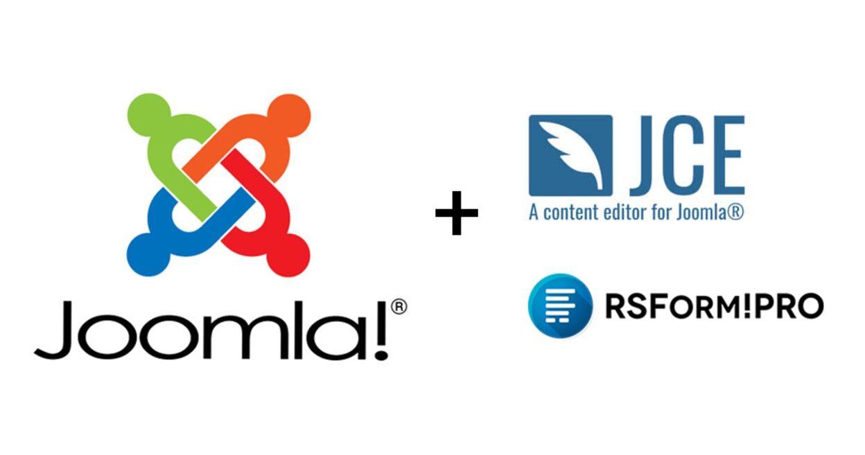 Joomla, JCE et RS Form Pro