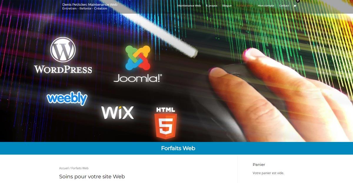 Rafraîchir la bannière générale d'un site Web