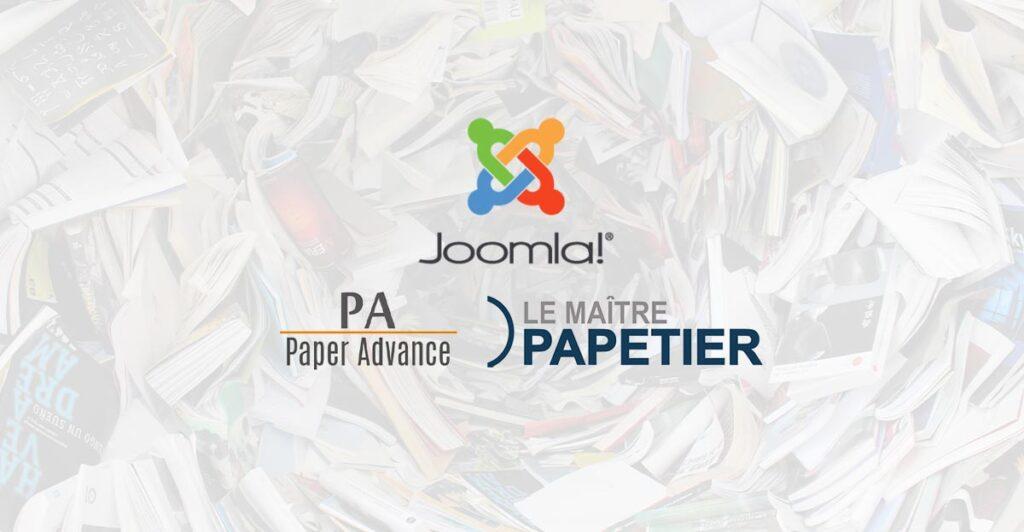 Joomla, refonte et mise à jour pour Paper Advance et Le Maître Papetier