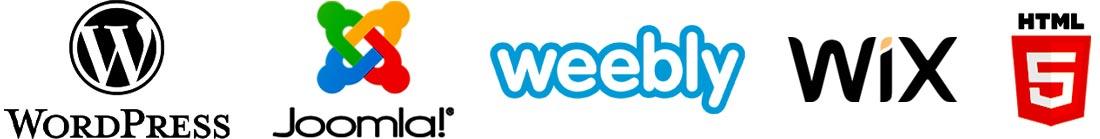 Comment puis-je vous aider avec WordPress, Joomla, Weebly, Wix et HTML5