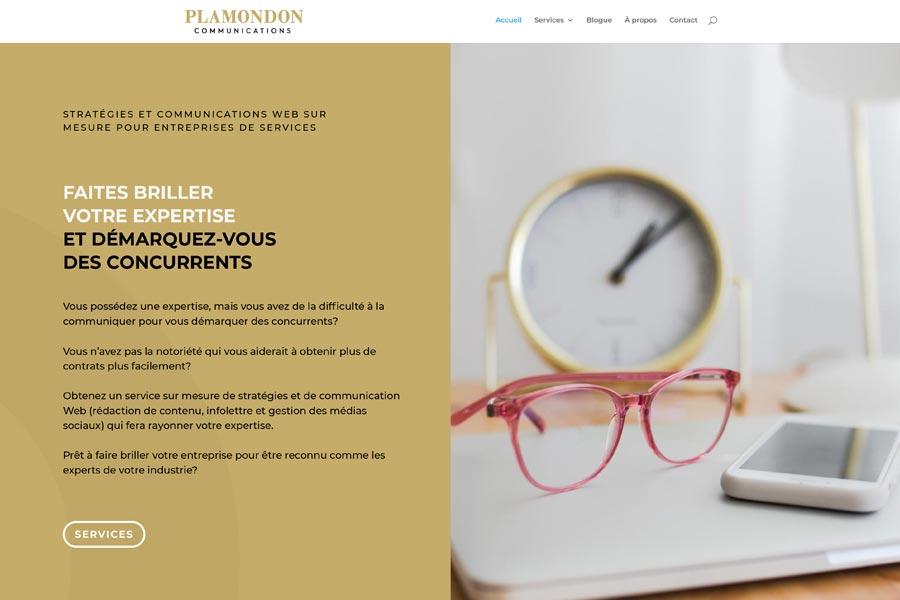 Plamondon Communications acceuil