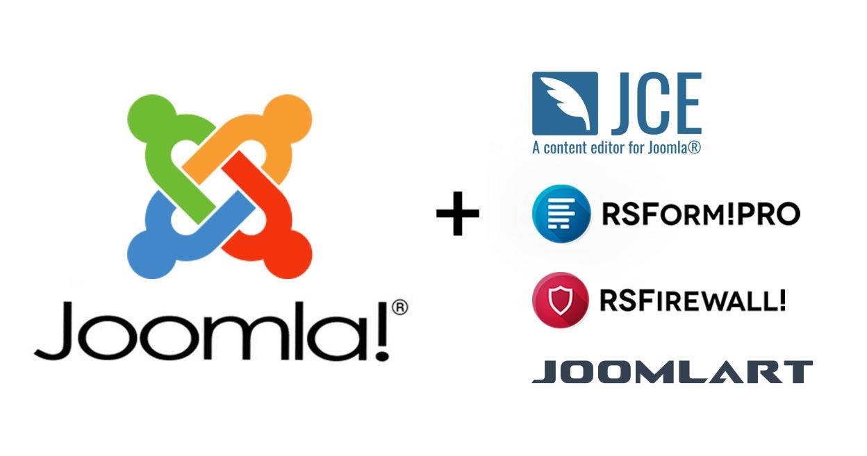 Joomla, JCE, RSForm Pro, RSFirewall, Joomlart