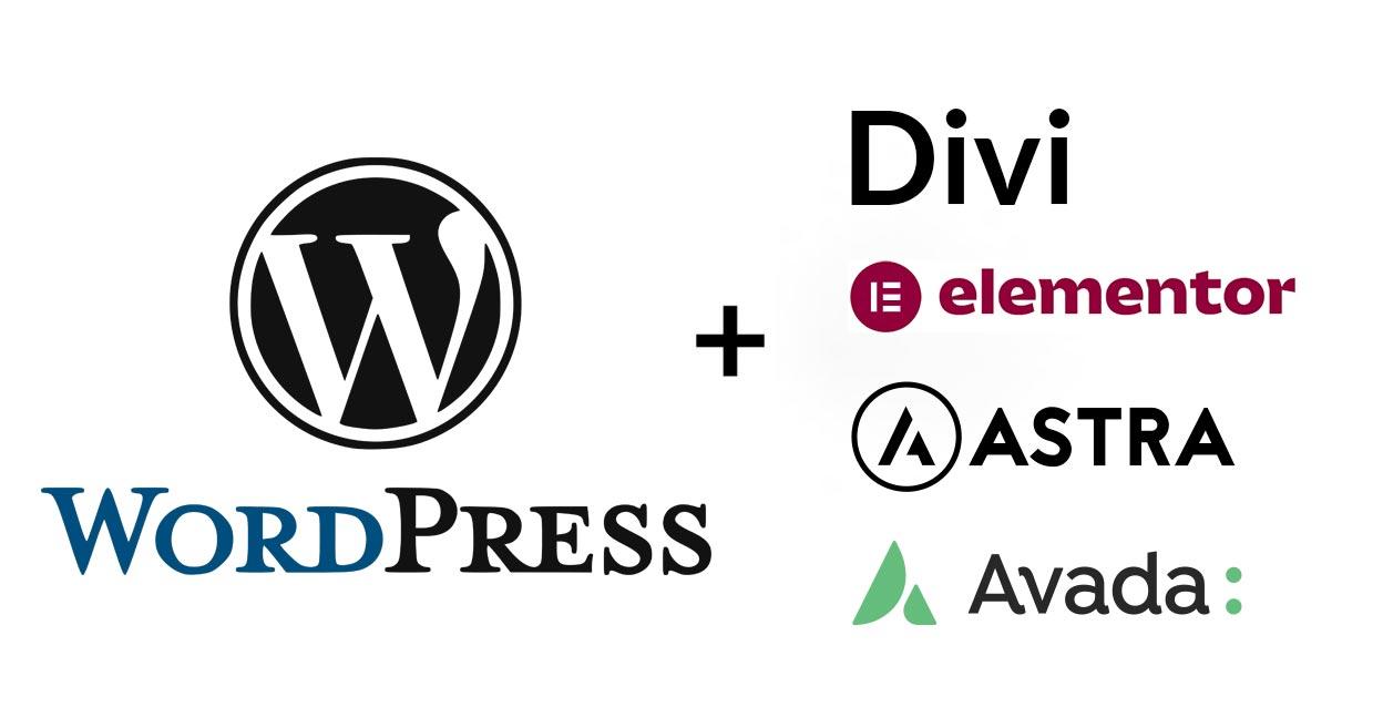 WordPress, Divi, Elementor, Astra, Avada